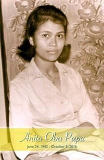 Anita Oba Papa obituary photo