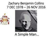 Zachary Benjamin Collins obituary photo