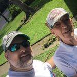 Sean & Papa after yard cleanup