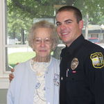 Grandma Lou with Nicholas at Police Academy Graduation 2010