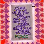 1965 calligraphy: Each of us...