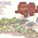 December 1972: illustration in Korea journal; kimchee makings