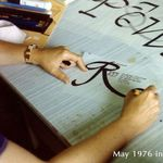 May 1976: calligraphy demonstration in Korea