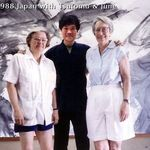 July 1988 in Japan with Tsutomu Yoshida and June Lamb