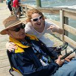 Grandpa Dean and Deann fishing last spring.