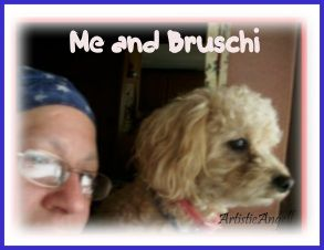 Me with my best friend (my pup) Bruschi.