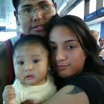 Family photo at the airport