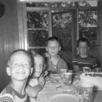 Neil attending his friend's (Jim Claeys) 8th birthday party 1956