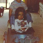Nelsie letting cousin Whitney drive his car. 1986