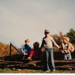 Jacob with Amanda Thomas, Andy Watts, & Kevin Swinigan at the WEMO Victory Class Retreat in Turkey Pen, TN - 1982