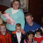 Jeremy, Sandy and the kids visited us (Andy and Heather Burnette) at the birth of our daughter, Josie, Jeremy's niece.