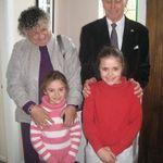 Pauline, Pete, Louise, & Rebecca in England