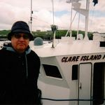Dad - Enjoying Claire Island in 2007 with population of 400.  Favorite activity was to travel.