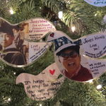 Tree of Remembrance - Christmas ornaments for James at the SF Columbarium
