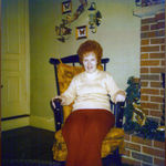 Cookie in her rocking chair at her home in Maryland
