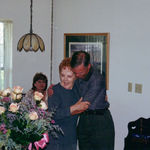 80th birthday - nephew Robert and Cookie hugging. She was full of hugs!