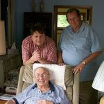 Harvey with sons Ken (left) and Don (right)