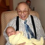 Great Grandpa holding Katelyn