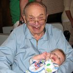 Great Grandpa holding Evan