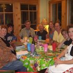 One of many fun dinner conversations around the table  with the Vale Texas clan  Austin, TX