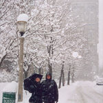VIsiting Susannah in a blizzard  in Boston, when she was there in law school.