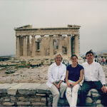 Visiting Susannah when she was studying in Athens.