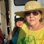 Gram and Chelsea fishing in the summer of 2011