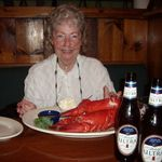 Mom and her lobster!!!!
