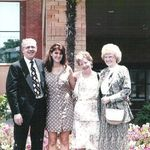 Dad, Me, Mom and Aunt Olive 1992 graduation lunch