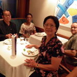 Dinner together on the Norwegian Star