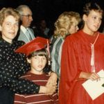 Mom, Adam and Leigh at her graduation from Holly High.