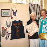 Rita, with her friend Therese Higgins at the Barton Center Craft show in Lakewood.