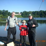 Papa, Dylan and Nichole, fishing at Colins Park.