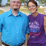 Craig and cancer survivor Carrie Jackson at Relay For Life