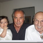 Oliver, Papa Joe and Gido . Olivers Baptismal 2009