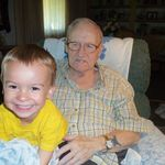 Grandpa Shull and his great grandson Tyler