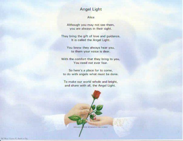 Guardian Angels Poems Angel Light Poem