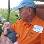 Pepaw Gary and his granddaughter, Aubrey. 9-11-11