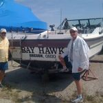 Bay Hawk was a boat Greg and Dad went out on when they were younger.  We happened to spot it sitting in a boat graveyard just off Lake Eerie in the summer of 2010.