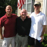 Dad with Todd and me.