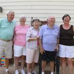 Liverman kids with spouses - Sid Gwaltney, Jean Clarke, Jacque Gwaltney, Herbert Liverman, Joyce Liverman
