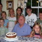birthday with grandchildren