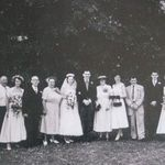 Wedding families, 18 Jul 1953
