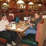 Dad and me at Bob Evan's.
