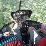 Dad's helicoptor tour of Indianapolis.