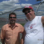 Jerry Campagna and Jim at an MIS nascar race a few years ago