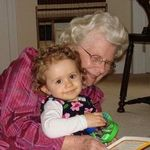 Grace with her Great-Nana