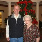 Frances with son Robert - December 2008