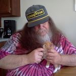 This is one of my favorite pictures, our friend Randy&#39;s new kitten and my love. I miss you so much!
