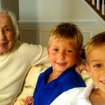 Great-Grandma with Chase & Alex, July 2011